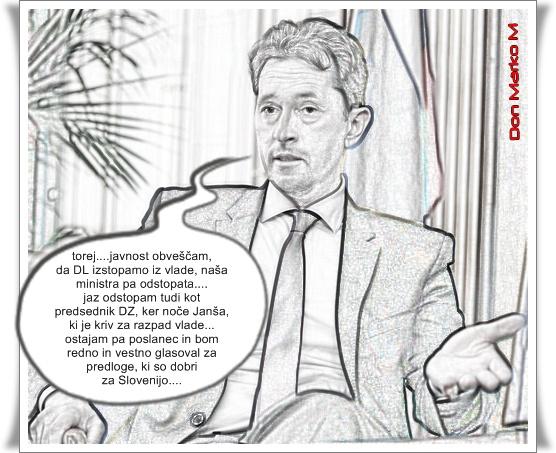 Brez ugibanj, kdo drži Janeza Janšo nad gladino (strip verzija) (blog Don Marko M)