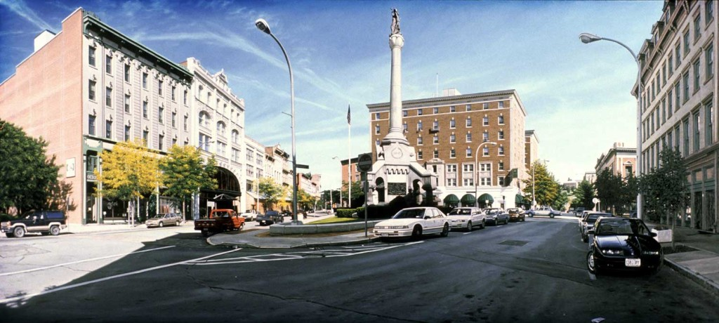Anthony Brunelli Monument Square (Troy) 1997 oil on linen (blog Don Marko M)