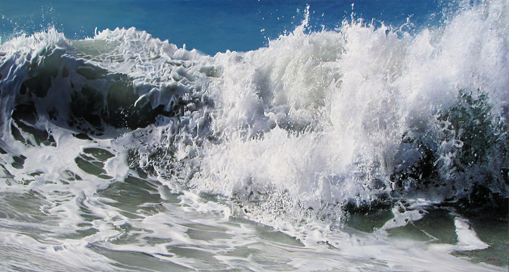 Charles Hartley Bahama Surf 2012 oil on Polyester (blog Don Marko M)