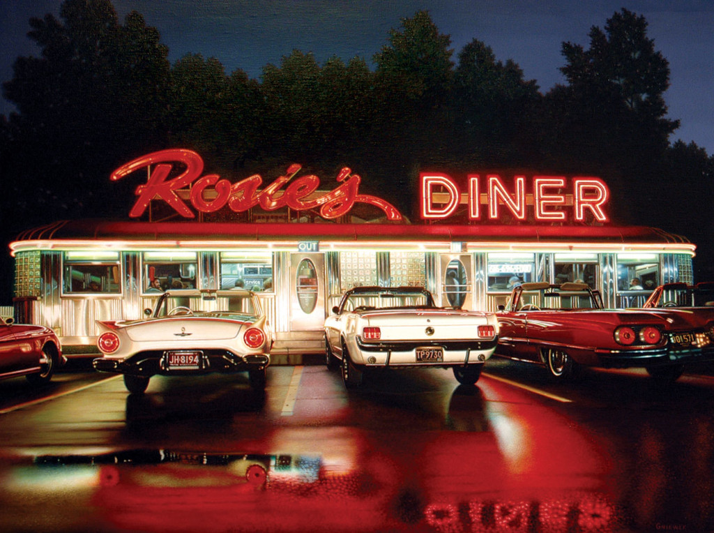 Robert Gniewek Rosie's Diner 10 2011 oil on canvas (blog Don Marko M)