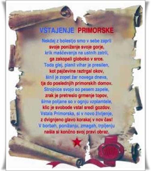 Vstala Primorska besedilo (blog Don Marko M)