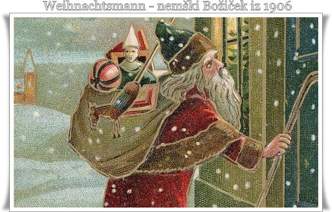 Weihnachtsmann nemški Božiček 1906 (blog Don Marko M)