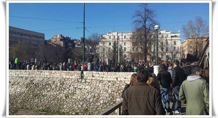 Protesti BiH 2014 Sarajevo