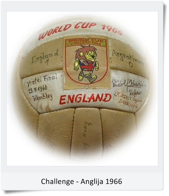 Žoga Slazenger Challenge 4 Star SP Anglija 1966 (blog Don Marko M)