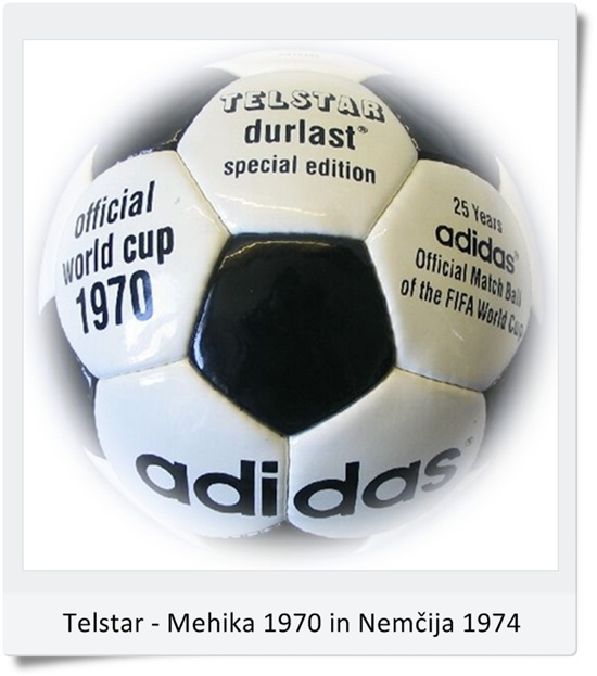 Žoga Telstar Durlast SP Mexico 1970 in SP Nemčija 1974 (blog Don Marko M)